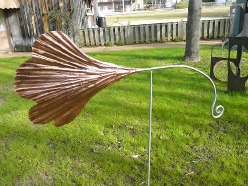 Copper Ginkgo Weathervane