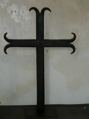 forged-cross-sculpture