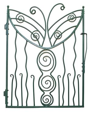 Hand Forged Butterfly Gate