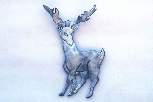 Metal Stag Gate Ornament